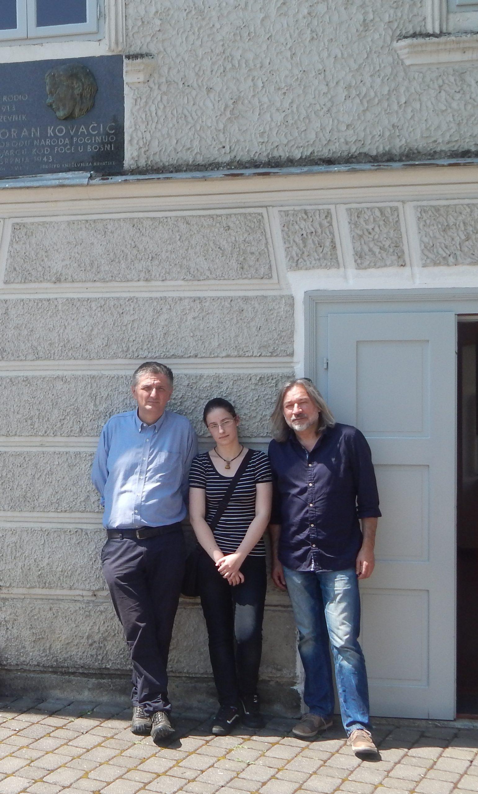Goranovo proljeće, Mateja s pjesnicima Miroslavom Mićanovićem i Brankom Čegecom