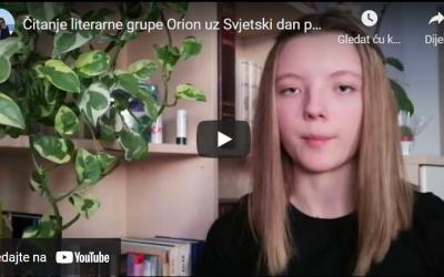 LITERARNA GRUPA ORION uz Svjetski dan poezije, Goranovo proljeće i Međunarodni dan darovitih učenika – VIDEOČITANJE